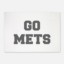 METS-Fre gray 5'x7'Area Rug