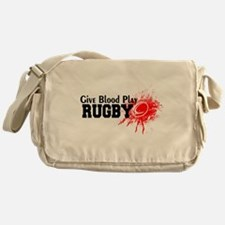 Give Blood Play Rugby Messenger Bag