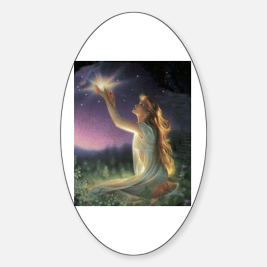 Wishes Amongst The Stars Oval Decal