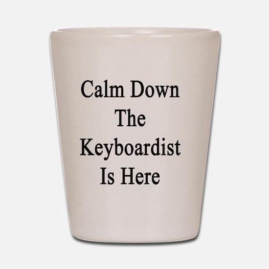 Calm Down The Keyboardist Is Here  Shot Glass