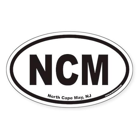 North Cape May NCM Euro Oval Sticker