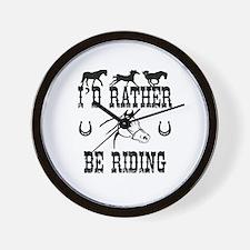 Horses - I'd Rather Be Riding Wall Clock