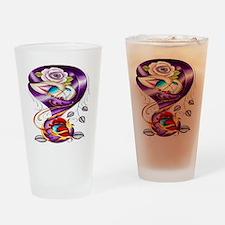Sugar Skull 022 Drinking Glass
