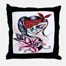 Sugar Skull 025 Throw Pillow