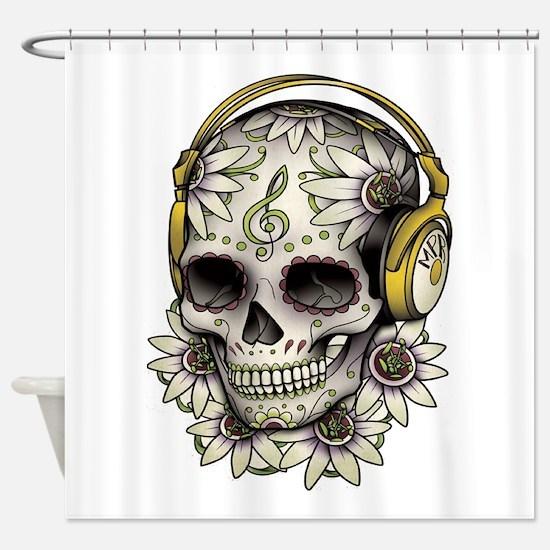 Sugar Skull 008 Shower Curtain