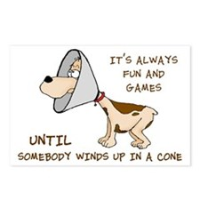 dog cone larry font 2.png Postcards (Package of 8)