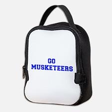 musketeers-Fre blue Neoprene Lunch Bag