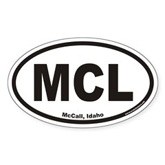 McCall Idaho MCL Euro Oval Decal