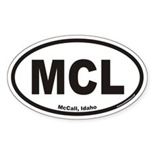 McCall Idaho MCL Euro Oval Decal