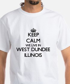 Keep calm we live in West Dundee Illinois T-Shirt