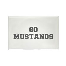 MUSTANGS-Fre gray Magnets