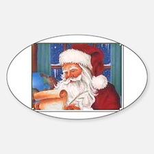 Santa's List Oval Decal