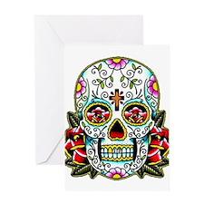 Sugar Skull 067 Greeting Cards