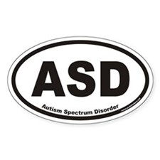 Autism Spectrum Disorder ASD Euro Oval Decal