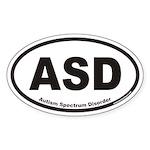 Autism Spectrum Disorder ASD Euro Oval Sticker
