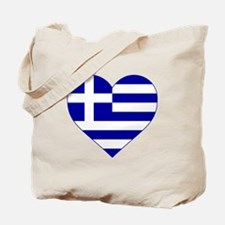 Greece Heart Tote Bag
