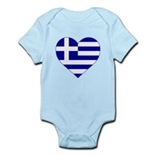 Greece Heart Body Suit