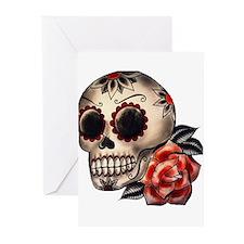 Sugar Skull 034 Greeting Cards