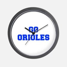 orioles-Fre blue Wall Clock