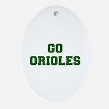 orioles-Fre dgreen Ornament (Oval)