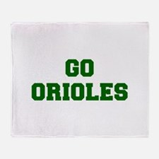 orioles-Fre dgreen Throw Blanket