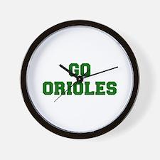 orioles-Fre dgreen Wall Clock