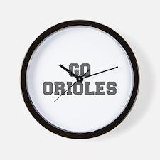 ORIOLES-Fre gray Wall Clock