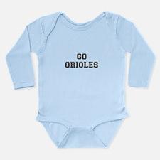 ORIOLES-Fre gray Body Suit