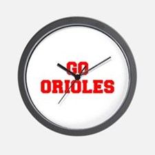 ORIOLES-Fre red Wall Clock