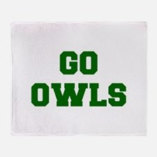 Owls-Fre dgreen Throw Blanket
