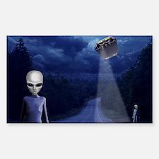 Alien Nightwatch Rectangle Decal