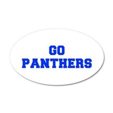 Panthers-Fre blue Wall Decal