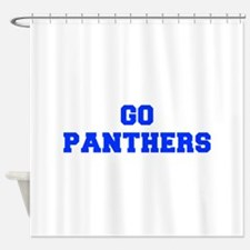 Panthers-Fre blue Shower Curtain