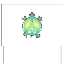 PEACE TURTLE Yard Sign