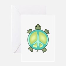 PEACE TURTLE Greeting Cards