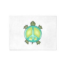 PEACE TURTLE 5'x7'Area Rug