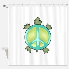 PEACE TURTLE Shower Curtain