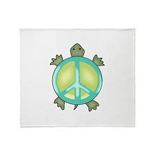 PEACE TURTLE Throw Blanket