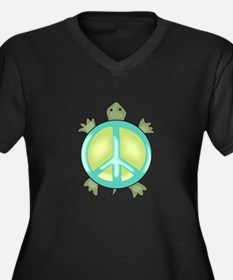 PEACE TURTLE Plus Size T-Shirt