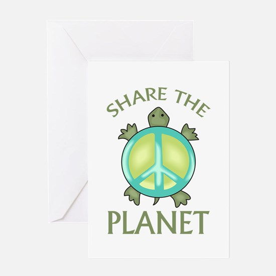 SHARE THE PLANET Greeting Cards