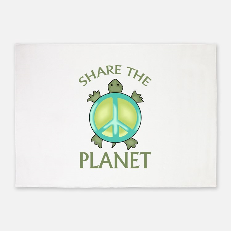 SHARE THE PLANET 5'x7'Area Rug