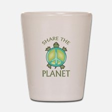 SHARE THE PLANET Shot Glass