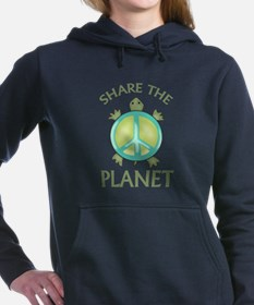 SHARE THE PLANET Women's Hooded Sweatshirt