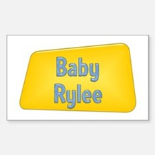 Baby Rylee Rectangle Decal
