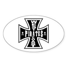 West Cooast PIRATES Oval Decal