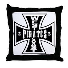 West Cooast PIRATES Throw Pillow