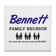 Bennett Family Reunion Tile Coaster