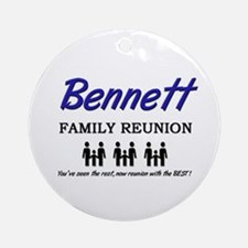 Bennett Family Reunion Ornament (Round)
