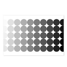 50 Shades of Grey Circles Postcards (Package of 8)