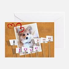 I love you Corgi Puppy Greeting Cards